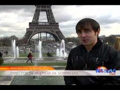 Francia, París,  campaña publicitaria en la que a través de folletos le muestran al visitante los lugares más románticos de la ciudad luz.