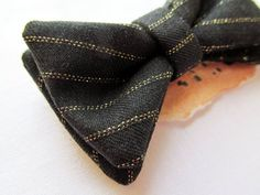 black and gold wedding bow tie