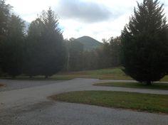 A view towards the mountains.  At Bald Mountain.