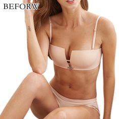 Beforw Eu Us Style Women Bra Set Wire Free Push Up Bra Briefs Set Sexy  Square Cup Seamless Bra And Panties Set Fashion Underwear 59d1b4697