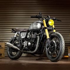 "Named ""The Maltese Falcon,"" this born-again café racer started life as a 2006 Triumph Bonneville Black. Oscar, the bike's owner, was so impressed by the work of Spanish builders Macco Motors, he shipped it from his Miami home a"