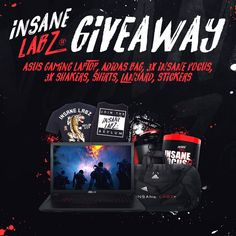 ENDS IN JULY 2018 -- Enter This ASUS Gaming Laptop & Insane Labz Swag Giveaway!