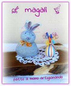 coniglietti facili con calzino ripieni di riso - sinide magali