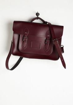 Handbags - Cambridge Satchel Company Bag in Oxblood - 15 inch
