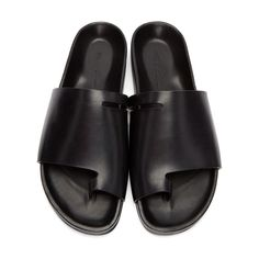 Rick Owens for Men Collection Black Leather Sandals, Black Shoes, Men's Shoes, Leather Shoes, Rick Owens Mens Shoes, Designer Sandals, Summer Shoes, Granola, Leather Men