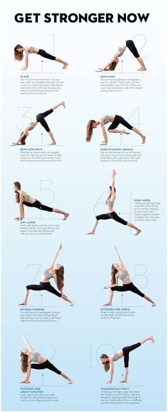 The best yoga workout to build strength from Tara Stiles - Do Tara's routine four times a week for a total-body, fat-blasting workout. Hold each pose for five breaths, unless otherwise noted. When you finish the sequence on the right side, repeat on your left.