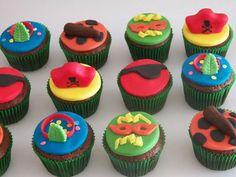 Cupcakes baile de carnaval - Drucka Machado Bolos - www.facebook.com/druckamachadobolos
