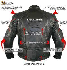 Xelement B7366 'Executioner' Men's Black Leather Racer Jacket - LeatherUp.com