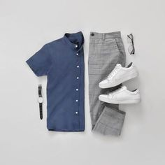 Men Casual Shirt Outfit 🖤 Very Attractive Casual Outfit Grid, Capsule Wardrobe, Men's Wardrobe, Stylish Mens Outfits, Mens Fashion Blog, Fashion Styles, Style Fashion, Fashion Ideas, Fashion Trends, Herren Outfit