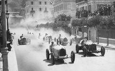 Monte Carlo. 3 April 1933. Achille Varzi (Bugatti T51) and Baconin Borzacchini (My grandfather's friend from Terni, Italy)
