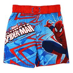 e60e0abfe794f Spider-Man Boys Swim Trunks Swimwear (Ultimate Blue) Marvel  YankeeToyBox   FunStartsHere