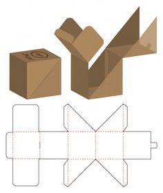 Similar Images, Stock Photos & Vectors of Box packaging die cut template design. mock-up - 1296885919 Tea Packaging, Packaging Design, Paper Box Template, Origami Templates, Box Templates, Diy Cadeau, Diy Gift Box, Gift Boxes, Box Patterns