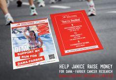 #design #print Postcard donation for Dana-Farber