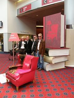 Lorin Morgan-Richards in Portland, OR, with Welsh authors