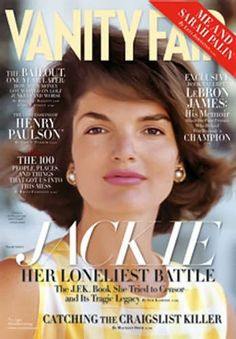 Jacqueline Lee Bouvier Kennedy Onassis (July 1929 – May was the wife of the president of the United States, John F. Kennedy, and served as First Lady during his presidency from 1961 until his assassination in Les Kennedy, Jacqueline Kennedy Onassis, Jaqueline Kennedy, Robert Kennedy, Vanity Fair Magazine, Vogue, Jfk, Lebron James, Icons