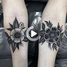 Flower tattoo by at in Murcia, Spain Tattoo Style - flower tattoos - Blumentattoo by at in Murcia Spain Tattoo Style - Delicate Flower Tattoo, Small Flower Tattoos, Flower Tattoo Arm, Flower Tattoo Shoulder, Small Tattoos, Tattoo Floral, Elbow Tattoos, Finger Tattoos, Body Art Tattoos