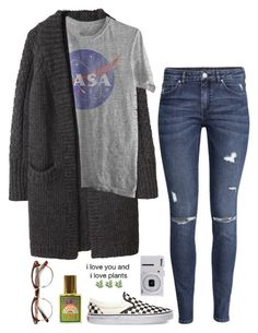 """smiles!!!"" by xxxaverixxx ❤ liked on Polyvore featuring Y's by Yohji Yamamoto, H&M, Vans and Nikon"