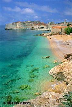 I how burned I got on this beach.  Dubrovnik, Croatia @Kristina Huling