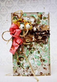 Фабрика декора: Мастер-класс по винтажной свадебной открытке от Fr...