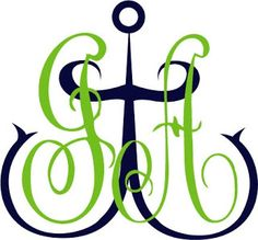 GREAT MONOGRAM- Initials with anchor front and center.