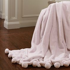 Shop for Aurora Home Luxe Faux Fur Pom Throw Blanket. Get free shipping at Overstock.com - Your Online Blankets