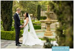 Romantic Wedding Portrait Ideas - Greystone Mansion Wedding Photographer, Bride and Groom Photos