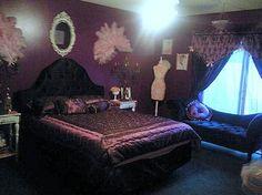 Dark Dramatic Purple Bedroom