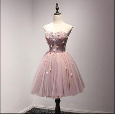 Charming Prom Dress, Short Prom Dresses, Sleeveless Party