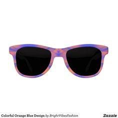 Colorful Orange Blue Design Sunglasses