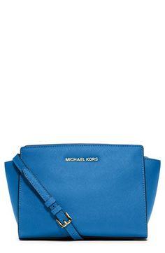 d5c6188639f MICHAEL Michael Kors  Medium Selma  Saffiano Leather Crossbody Bag