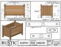 The importance of woodworking power tools ** Click image for more details. Rustic Baby Cribs, Rustic Crib, Baby Crib Diy, Palette, Bed Plans, Diy Bed, Baby Furniture, Plan Design, Modern Room