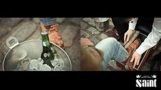 Saints Presents shoe shine, at Boxpark Shoreditch.