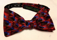 Jerry Garcia Bow Tie from a 90's neck tie.   Can you find the guitars in the desigin? by ReiserCreations on Etsy