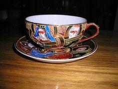 943-taza de te de coleccion porcelana cascara de huevo
