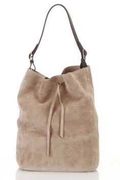 Suede Shoulder Bag.