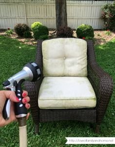 How To Remove Mildew Stains From Outdoor Cushions In One Afternoon And  Completely Bring Them Back