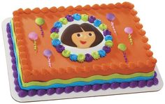 Dora the Explorer & Ballons Edible DecoSet® Cake