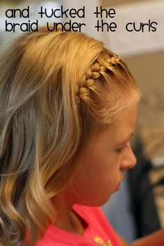Lots of hairstyles for little girls with step by step instructions