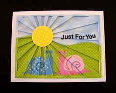 Ann Greenspan's Crafts: Dimensional Sunburst cards