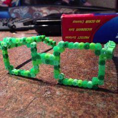 Glasses perler beads by LadyMeganne
