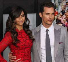 Camila Alves with Matthew McConaughey at the premiere of 'The Wolf of Wall Street' held at the Ziegfeld Theatre in New York City on December 17, 2013