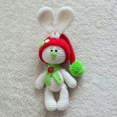 Inspiration - Amigurumi Christmas bunny