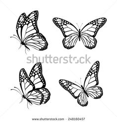 Half Sleeve Tattoos For Women: Butterfly Tattoos for Women - Half Sleeve Tattoo. - Half Sleeve Tattoos For Women: Butterfly Tattoos for Women – Half Sleeve Tattoos For Women: Butt - Butterfly Sketch, Butterfly Photos, Butterfly Art, Monarch Butterfly, Butterfly Drawing Outline, Buterfly Drawing, How To Draw Butterfly, Simple Butterfly, Butterfly Design