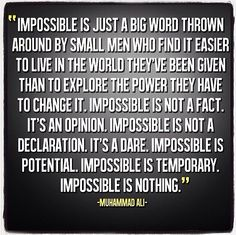 #impossible #excuses
