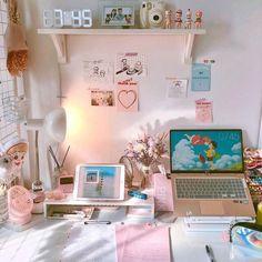Teen Room Decor - Choose Furniture That Is Cheerful For Your Teen Army Room Decor, Study Room Decor, Teen Room Decor, Room Setup, Bedroom Decor, Study Rooms, Desk Setup, Gaming Setup, Cute Room Ideas