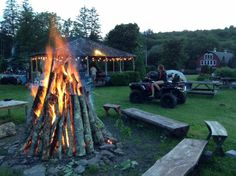 Setting up for a weekend bonfire Homestead Farm, Barn Weddings, Rustic Barn, Homesteading, Outdoor Decor, Home Decor, Decoration Home, Room Decor, Interior Design