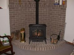 Burning Stove Hearths on Pinterest | Corner Wood Stove, Wood Stoves