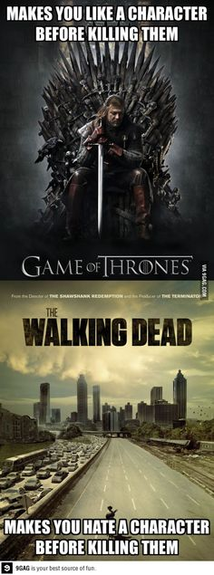 #game of thrones #the walking dead