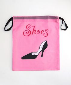 Loving this Pink Shoe Drawstring Bag on #zulily! #zulilyfinds