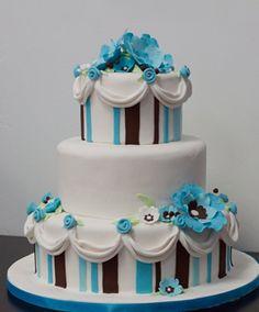Brown & Teal cake